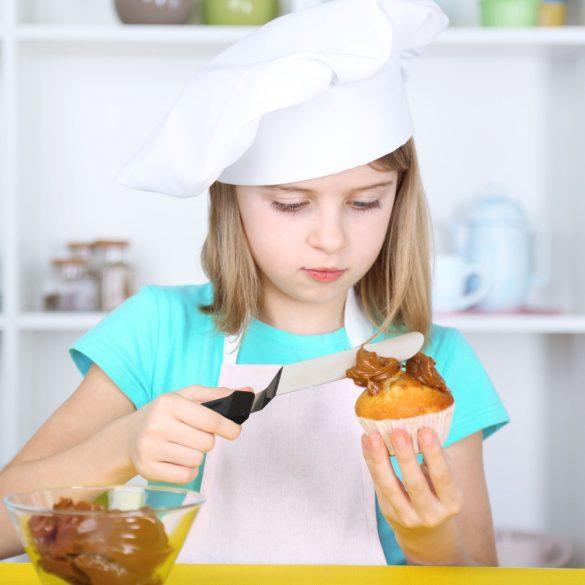 Fém kenőkés, spatula, cukrászkés - Hajlított