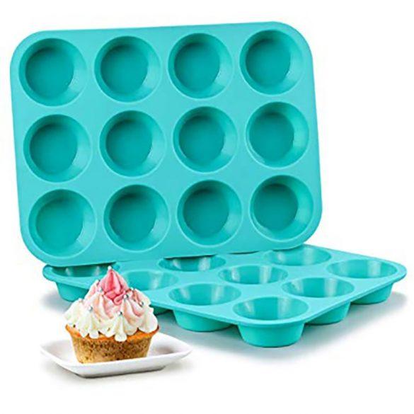 12 részes szilikon muffin forma