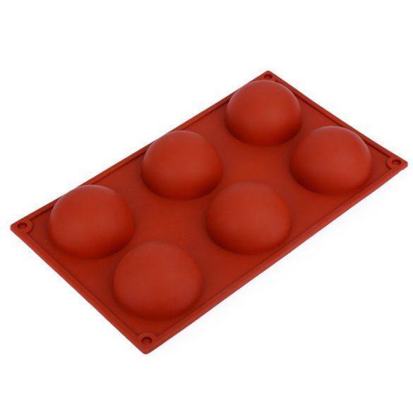 6 részes szilikon forma - Gömbök