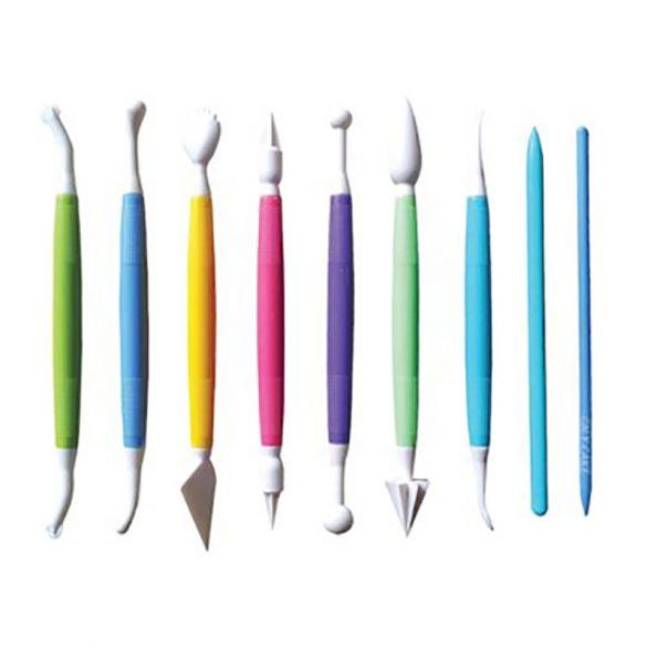 9 darabos fondant mintázó toll készlet
