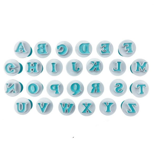 26 darabos rúgós fondant kiszúró - Nyomtatott nagy betűk