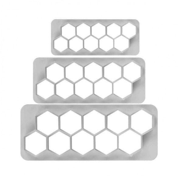 Fondant kiszúró - Geometrikus minták - Hatszög
