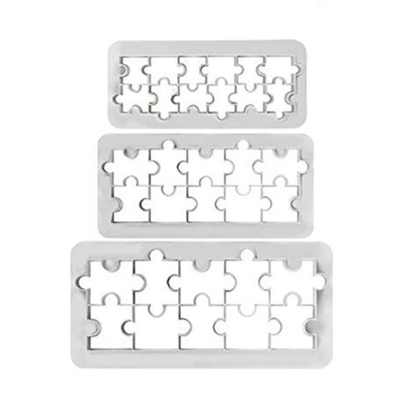 Fondant kiszúró - Geometrikus minták - Puzzle