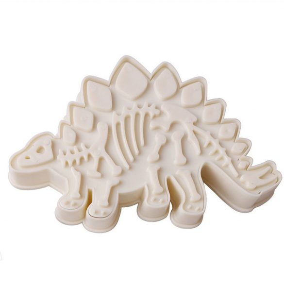 Műanyag süteménykiszúró - Dinoszaurusz, Stegosaurus