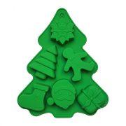 Karácsonyi szilikon muffin forma - Karácsonyi kavalkád