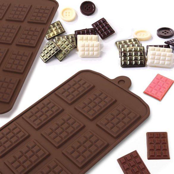 Szilikon mini táblás csokoládé forma
