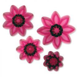 4 darabos marcipán és fondant mintázó – Virágok
