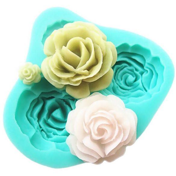 Rózsa mintájú szilikon fondant és marcipán mintázó