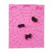 Pók és pókháló mintájú szilikon fondant és marcipán mintázó