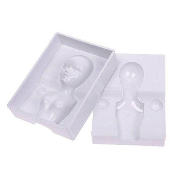 3D-s marcipán és fondant mintázó női alakhoz