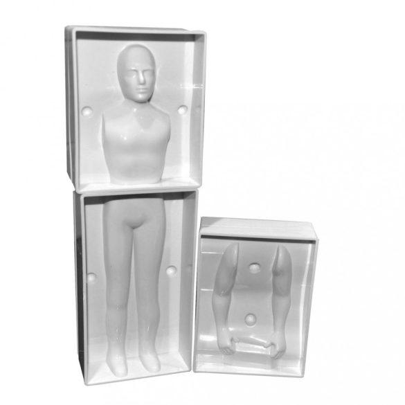 3D-s marcipán és fondant mintázó férfi alakhoz