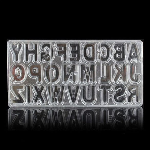 Polikarbonát bonbon forma - Betűk