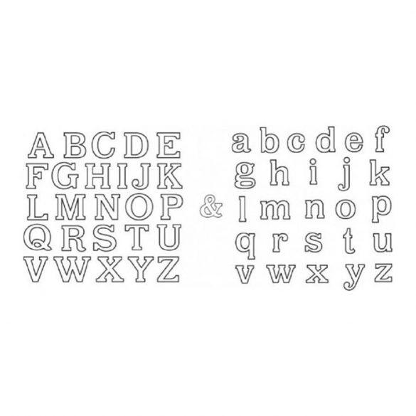 Patchwork fondant kiszúró – Nyomtatott és írott betűk