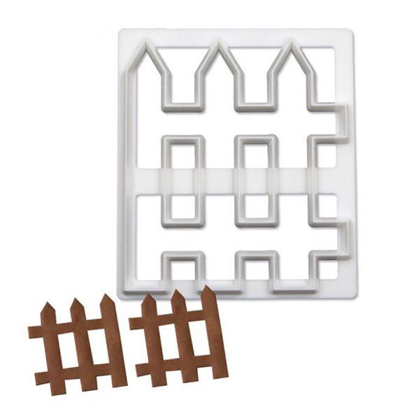 Fondant, marcipán és sütemény kiszúró - Kerítés