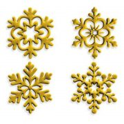 4 darabos fondant és marcipán mintázó - Hópehely