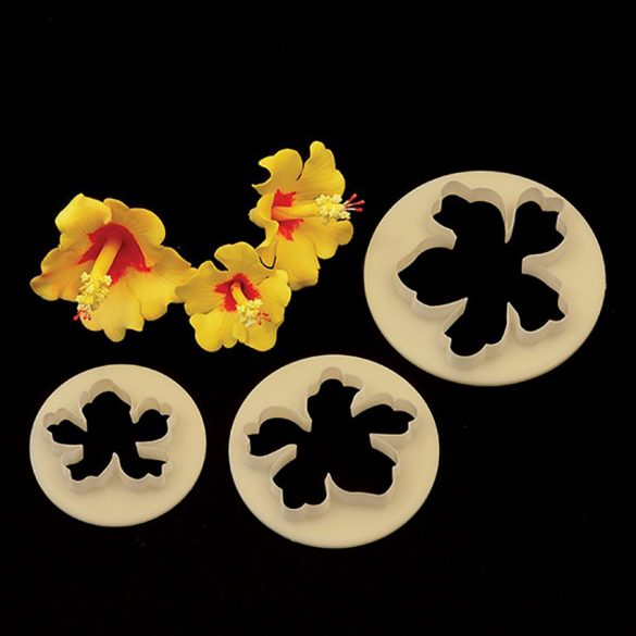 3 darabos fondant, marcipán kiszúró - Hawaii virág