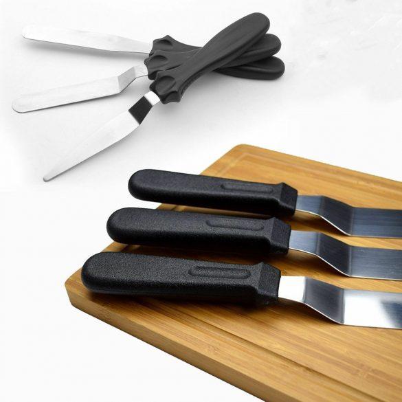 3 darabos spatula, kenőkés, cukrászkés készlet