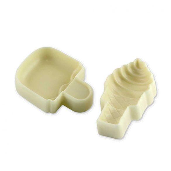 2 darabos fondant és marcipán mintázó - Jégkrém és fagyi