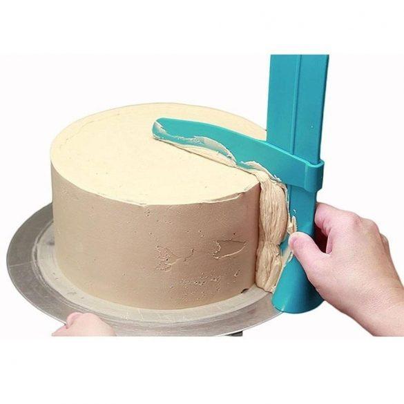 Állítható magasságú tortasimító
