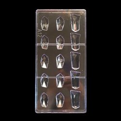 Polikarbonát bonbon forma - Drágakövek