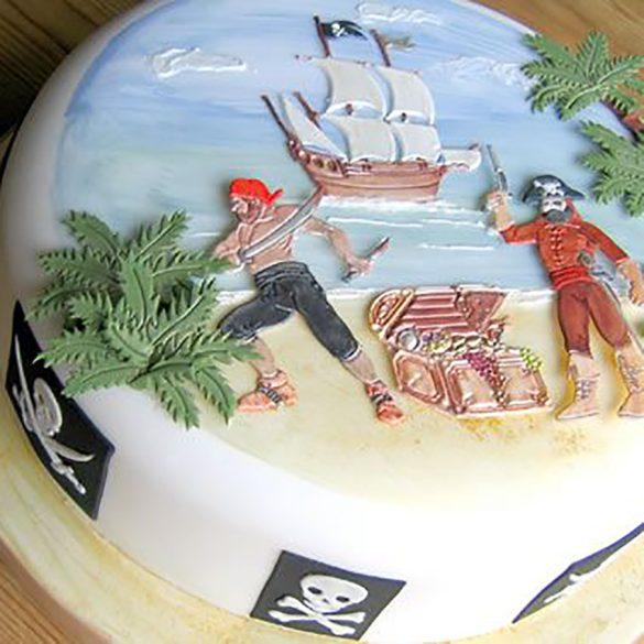 Patchwork fondant kiszúró - Kalózok