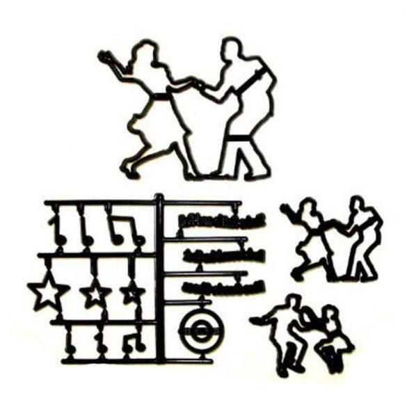 Patchwork fondant kiszúró - Táncoló emberek