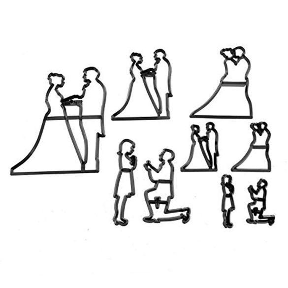 Patchwork fondant kiszúró - Esküvő