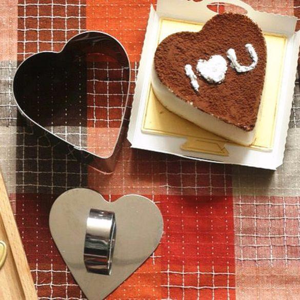 Szív alakú rozsdamentes ételformázó