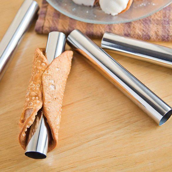 3 darabos cannoli és habroló forma - Egyenes