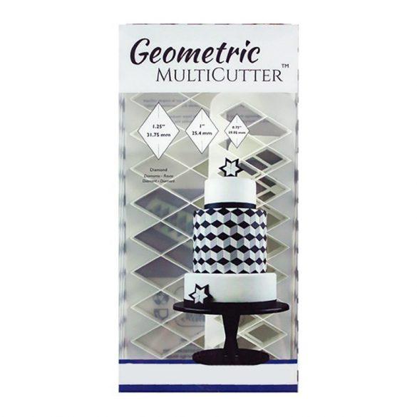 Fondant kiszúró - Geometrikus minták - Rombusz