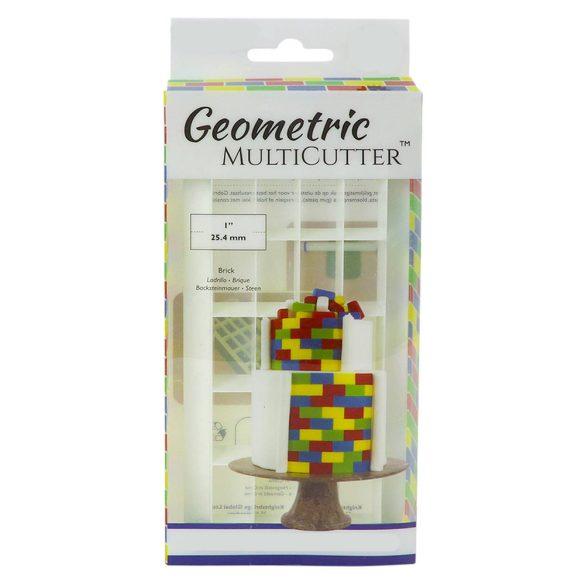 Fondant kiszúró - Geometrikus minták - Téglaalap
