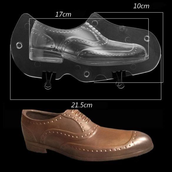Csokoládé öntőforma - Férfi cipő