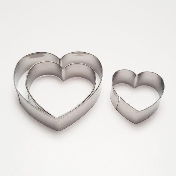 3 darabos fém süteménykiszúró - Szív