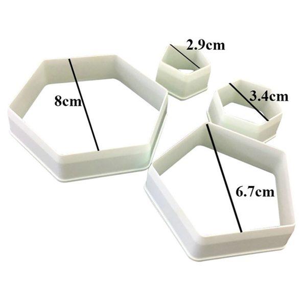 4 darabos süteménykiszúró szett - Focilabda