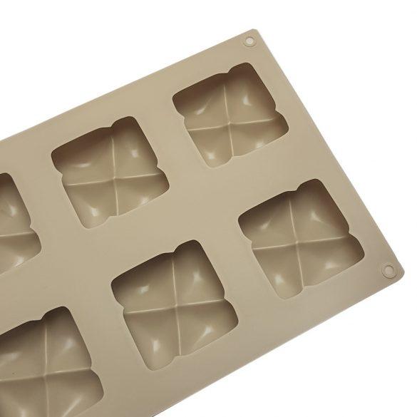 8 részes szilikon forma - Négyzetek