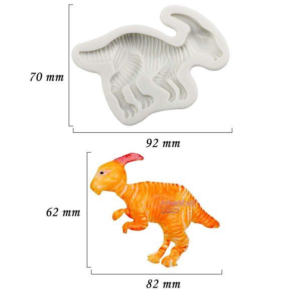 Szilikon fondant és marcipán mintázó - Dinoszaurusz - Parasaurolophus