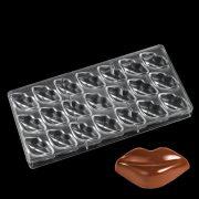 Polikarbonát bonbon forma - Száj, Ajak