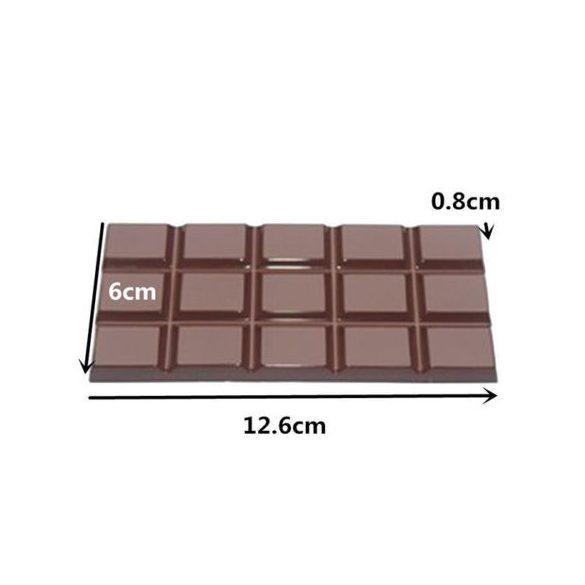 Polikarbonát bonbon forma - Táblás csokoládé