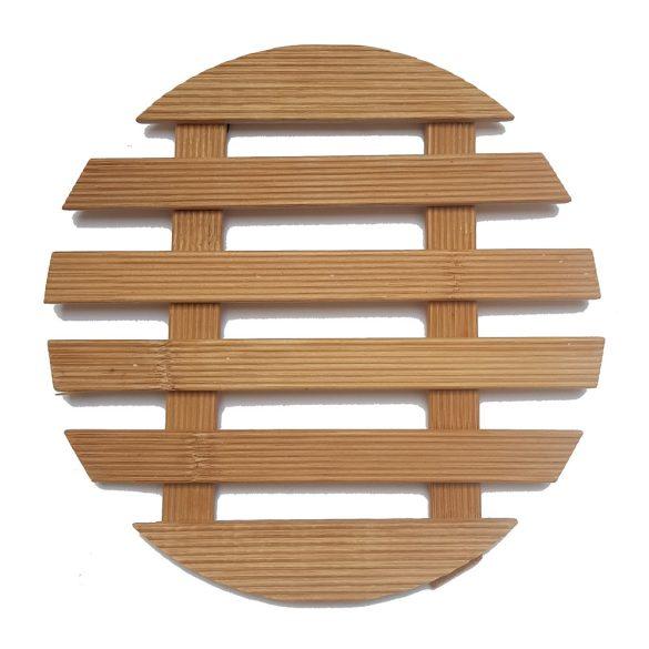 Rácsos bambusz edényalátét – Kör