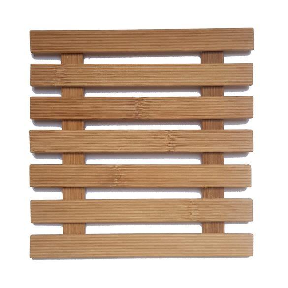 Rácsos bambusz edényalátét – Négyzet