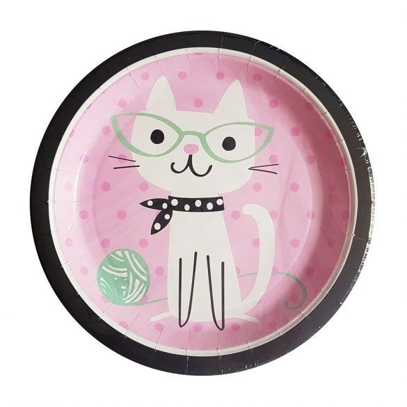 10 darabos papír tányér – Macskák