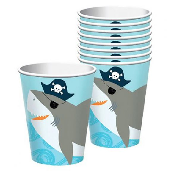 10 darabos papír pohár - Kalózok