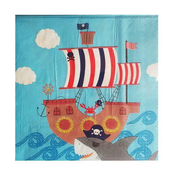 20 darabos papír szalvéta – Kalózok