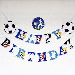 Happy Birthday party füzér – Foci láz