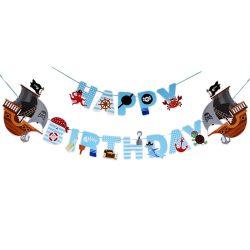 Happy Birthday party füzér – Kalózok