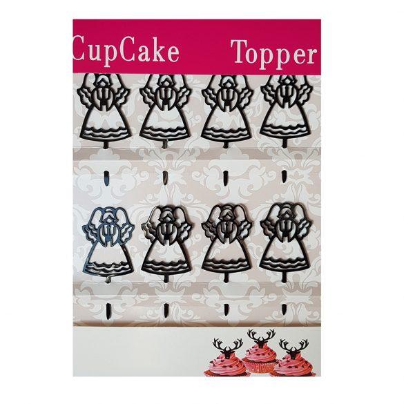 Angyal mintájú muffin dekoráció, muffin beszúró