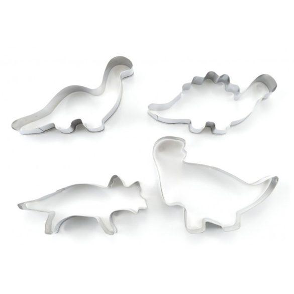 4 darabos fém süteménykiszúró szett – Dinoszauruszok