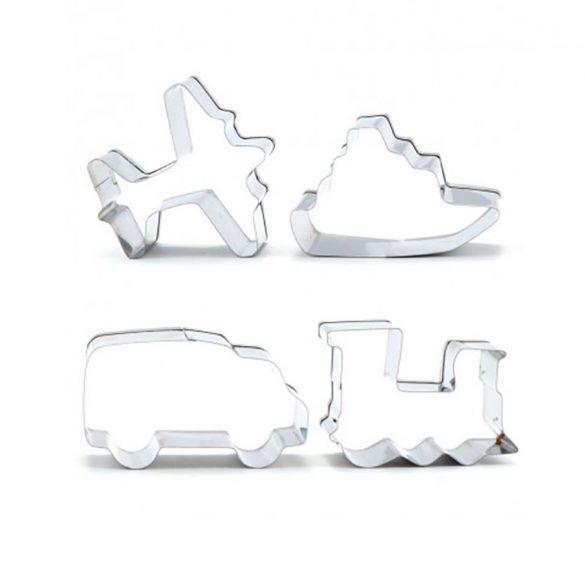 4 darabos fém süteménykiszúró szett – Járművek