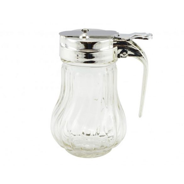 Üveg mézcsorgató, tejkiöntő