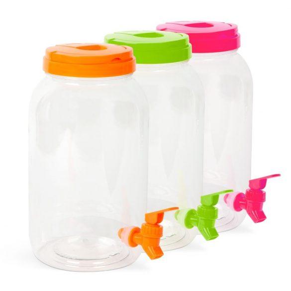 Műanyag italadagoló csappal 3,8 liter